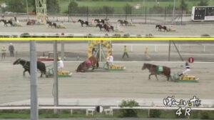 keiba 1629098406 804 300x168 - 【ばんえい競馬】人気馬がゴール直前で転がって寝る